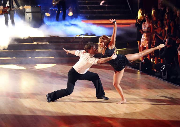 """""""Dancing With The Stars"""" Pros Tristan MacManus and Witney Carson dance to The Band Perry's """"Better Dig Two"""" (Photo Courtesy of ABC)"""