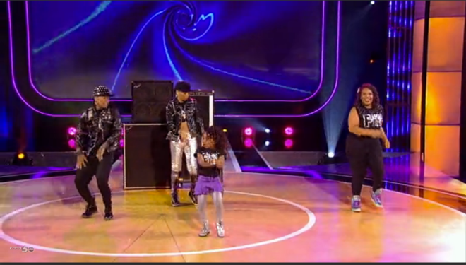 """The Hunter Family perform a hip hop routine on """"Family Dance Off."""" - Photo Courtesy of ABC"""