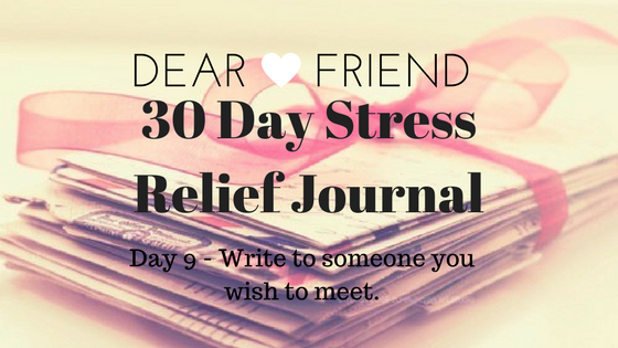 30 Day Stress Relief Journal – Day9